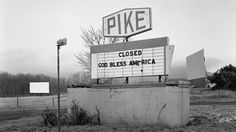 Photo essay on America's forgotten drive-in theaters.  Sad story.