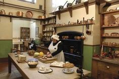 So yeah.if I had a castle, this would DEFINITELY be my kitchen! Based on Victorian kitchen design Mini Kitchen, Miniature Kitchen, Old Kitchen, Vintage Kitchen, Kitchen Dining, Kitchen Decor, Kitchen Ideas, Copper Kitchen, Kitchen Designs