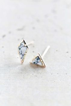 Luv Aj Marble Stud Earring Set