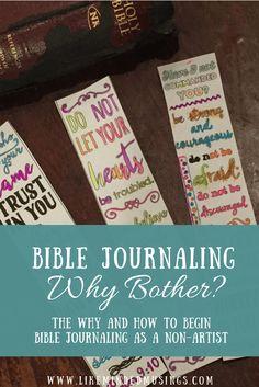 Bible Journaling Why