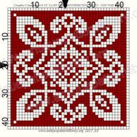 ru / Фото - Le Filet Ancien V - gabbach Filet Crochet, Crochet Cross, Thread Crochet, Cross Stitch Kits, Cross Stitch Designs, Cross Stitch Patterns, Knitting Charts, Knitting Stitches, Crochet Blankets