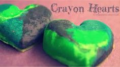 Heart Crayon's   1. get a heart shape molder and fill it with broken up crayon's  2. put it in the oven at 230 degrees it takes 15 min.  then you are  done!