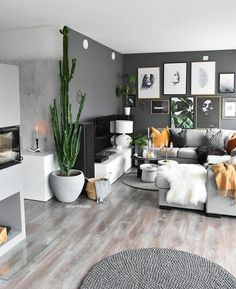 15 Modern Living Room Design Ideas to Upgrade your Home Style – My Life Spot Grey Walls Living Room, Living Room Colors, Interior Design Living Room, Living Room Designs, Living Room Decor, Man Cave Living Room, Grey Interior Design, Interior Livingroom, Living Room Inspiration