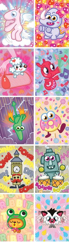 Moshi Monster Cards on Behance