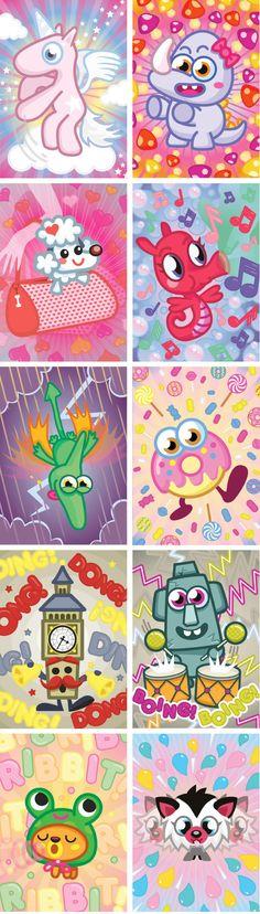 Moshi Monster Cards on Behance