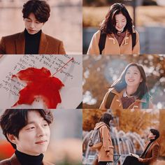 """🍁~  """"With a thump, my heart keeps bouncing between the sky and the ground.. It was my first love.""""   #Goblin"""