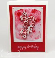 A Brusho Birthday Card