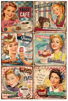 Vintage Labels, Vintage Cards, Vintage Paper, Vintage Signs, Retro Vintage, Images Vintage, Retro Images, Vintage Pictures, Decoupage Vintage