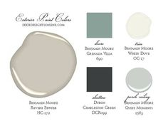 best ideas for house paint exterior benjamin moore revere pewter Exterior Paint Colors For House, Interior Paint Colors, Paint Colors For Home, Exterior Colors, Interior And Exterior, Paint Colours, Exterior Design, Interior Painting, Coastal Interior