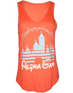 Alpha Gamma Delta Castle Tank by Adam Block Design | Custom Greek Apparel & Sorority Clothes | www.adamblockdesign.com