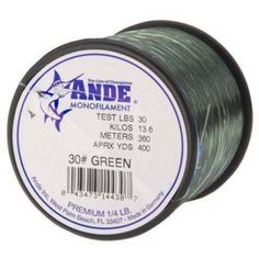 Ande Premium Monofilament, Dark Green