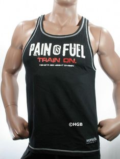 1f02ecb421a48 NEW Mens Workout MONSTA Bodybuilding Wear PAIN Racerback Tank Top Gym  Clothing  gymClothes