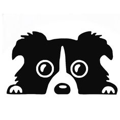 Wholesale 10pcs/lot 20pcs/lot Border Collie Wall Art Pet Dog Puppy Van Car Window Door Truck Bumper Boat Trailer Laptop Kayak