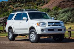 Gen Sequoia lifted, BFG A/T KO's, LED's, Baja Rack roof rack, spidertrax wheel spacers Toyota Sequioa, Toyota Girl, Toyota 4runner, Toyota Trucks, Suv Camping, Ford Expedition, Big Tree, Big Dogs, Toyota Land Cruiser