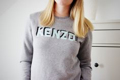 KENZO LOVE Modezeilen.blogspot.com #fashion #modezeilen #fashionblogger #inspiration #streetstyle #kenzo #sweater #grey #outfit
