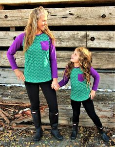 Child - Purple Mom And Daughter Matching, Mother Daughter Outfits, Mommy And Me Outfits, Mom Daughter, Kids Outfits, Kids Boutique, Boutique Clothing, Mermaid Birthday Outfit, Disney Halloween Shirts