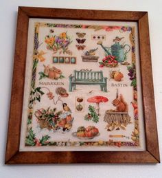 "Counted cross stitch design ""The Four Seasons"" designed by Marjolein Bastin. Stitch be Jen Weaver."