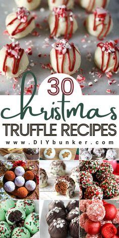 Christmas Truffles, Easy Christmas Treats, Holiday Snacks, Christmas Foods, Christmas Sweets, Christmas Cooking, Holiday Cookies, Christmas Candy, Christmas Recipes