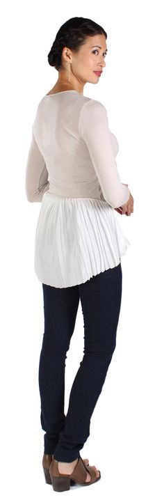 Pleated V-neck Top by Clu at Parallel, Portland