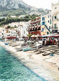 Beach Town, Capri, Amalfi Coast, Italy. https://ExploreTraveler.com