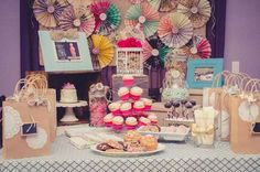 Vintage Shabby Chic Party | CatchMyParty.com #ShabbyChic