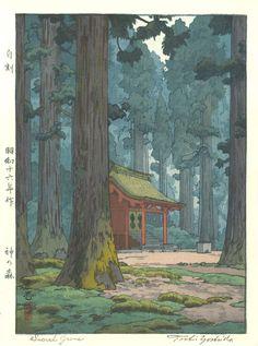 Ideas For Japan Art Design Illustrations Woodblock Print Art And Illustration, Botanical Illustration, Design Illustrations, Sacred Groves, Art Occidental, Art Chinois, Art Asiatique, Art Japonais, Japanese Painting