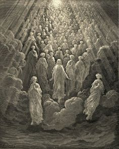 Gustave Dore - The host of myriad glowing souls
