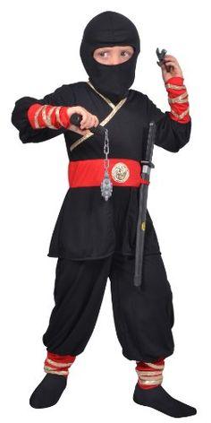 César – F292-003 – Costume – Déguisement Ninja – 8/10 Ans: Descriptif produit: Prêt pour des missions secrètes avec cette combinaison de…