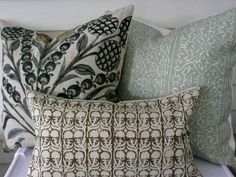 Pillow Collection in Blues and Browns Diy Pillow Covers, Diy Pillows, Custom Pillows, Pillow Inserts, Accent Pillows, Decorative Pillows, Cushions, Weaving Process, Best Pillow