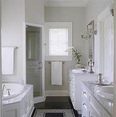 Master bathroom: I like the setup, just make a little more spacious and a big jacuzzi.
