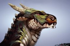 Dragon head by Veramundis.deviantart.com on @DeviantArt