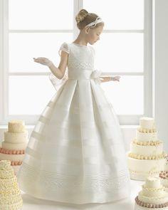 MAITE vestido de comunión Rosa Clara