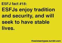 ESFJ - these are all very me...