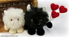 Amigurumi Monster Love Bugs - FREE Crochet Pattern / Tutorial