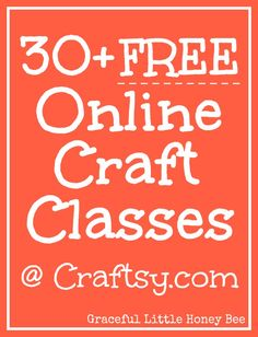 Craftsy offers 30+ free online mini craft classes including, sewing, crochet, gardening, photography, cake decorating, drawing and more! Sign up to get your craft on today!