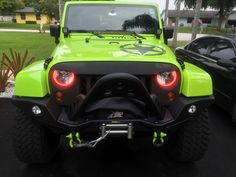 """Easy Install Halos """"Multi-Colored COBs"""" for the Jeep Wrangler"""
