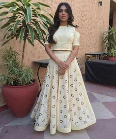 """230 Likes, 1 Comments - Aashni + Co (@aashniandco) on Instagram: """"The lovely @psbhumi in a fuss-free @anjulbhandari lehenga set, giving us inspiration for the…"""""""