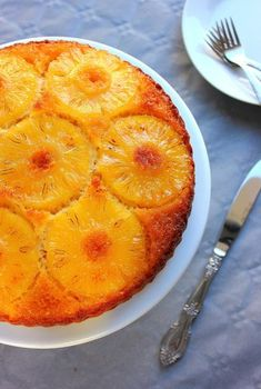 Gâteau renversé à l' ananas