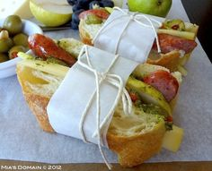 Mias Domain | Rustic Modern Cuisine | Real Food: Artisan Pesto Kielbasa Pear Sandwich