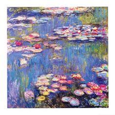 "Monet ""Waterlilies"" detail."