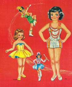 Majorette 1957* The International Paper Doll Society by Arielle Gabriel for all paper doll and paper toy lovers. Mattel, DIsney, Betsy McCall, etc. Join me at #ArtrA, #QuanYin5 Linked In QuanYin5 YouTube QuanYin5!