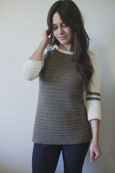 New Free Crochet Pattern for the Varsity Sweater!