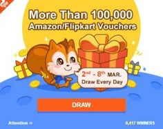 UC Browser introduced UC Super Day loot Offer to Get Chance to Win upto Lakh Android Tutorials, Gift Vouchers, Earn Money, Super, Winnie The Pooh, Comics, Amazon, Wednesday, Gifts