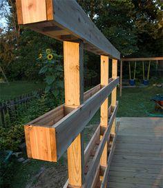 Easy to make planter using pallet!! http://www.facebook.com/HomeFarmIdeas