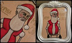 Gift Bag Wall Art: Have you ever noticed how gorgeous some of the Christmas gift bags are? They're like miniature pieces of art. Really, really cheap pieces of art. So why not cut them apart, pop them in a frame, and hang them on the wall? I used one bag from this set of two to finish off my mantle.