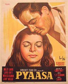Pyaasa is Bollywood Classic Film Releasing on 22 February 1957 Starring Guru Dutt,Waheeda Rehman,Mala Sinha,Johnny Walker Old Bollywood Movies, Bollywood Posters, Bollywood Cinema, Vintage Bollywood, Imdb Movies, Films, The Image Movie, Film Watch, Lounge