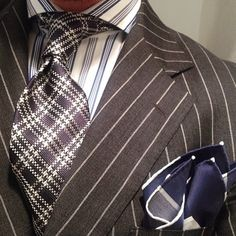 Game of patterns instead of thrones #vanlaack #shirt #ootd #styling #fun #style #dots #check #pinstripe #suit #suitandtie #stripe #tie #pocketsquare #repost #outfit @thesnobreport