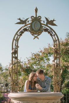 Get Engaged at Disney World underneath Cinderella's wishing well. See more tips and tricks on how to get engaged at Disneyland &  Disney World