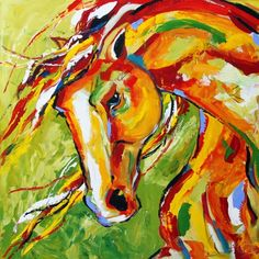 Changing Seasons Equine Art Horse Painting by Equine Texas Artist Laurie Pace, painting by artist Laurie Justus Pace