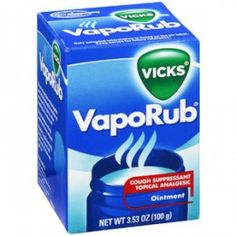 Shop for Vicks Cough, Cold & Flu in Medicine Cabinet. Buy products such as Vicks VapoRub Cough Suppressant Topical Analgesic Ointment oz at Walmart and save. Toenail Fungus Remedies, Toenail Fungus Treatment, Fungus Toenails, Cellulite Remedies, Foot Remedies, Natural Remedies, Herbal Remedies, Acne Remedies, Health Remedies
